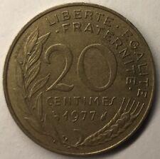 F.156 Monnaie Française 20 Centimes Marianne 1977 Achat Unitaire