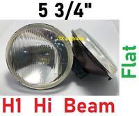 "1pr 5 3/4"" 143mm H1 Inner Hi Beam semi sealed Headlights Flat Glass"