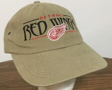 New! DETROIT RED WINGS ~ ADULT ADJUSTABLE Tan HAT CAP NHL HOCKEY Stitched ~ CCM
