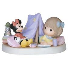 * New Precious Moments Disney Figurine Mickey Minnie Mouse Camping Tent Girl