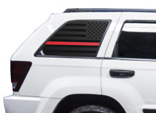 Red Line Flag Decal Set - Fire Fits Jeep Grand Cherokee Laredo American WK WW2-R