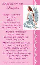 WALLET CARD AN ANGEL FOR YOU DAUGHTER Keepsake Sentimental Verse Present Purse