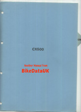 Honda CX500 (1978 >>) Original Dealer PDI Set-Up Instructions Manual CX 500 CJ20