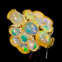 Opal Ring Silver 925 Sterling Expensive jewelry 150 US Size 6.75 /R145161