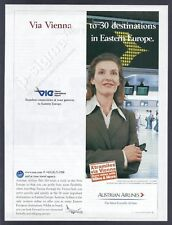 AUSTRIAN AIRLINES - Gateway to eastern Europe- 2002 Print Ad