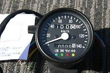 BLACK Mini Speedometer Speedo Gauge KPH  km/h gauges with indicator lights
