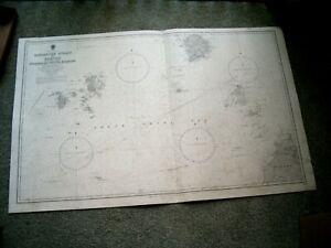 Vintage Admiralty Chart 1311 SINGAPORE STRAIT to BORNEO 1959 edn