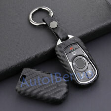 Carbon Fiber Textured Car Key Case Holder For Buick Enclave Encore Accessories
