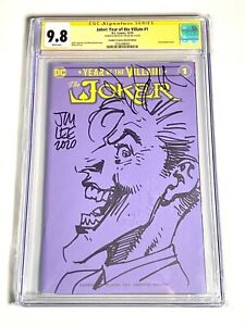 JIM LEE SKETCH JOKER Year Of The Villain CGC 9.8 Sign And Sketch