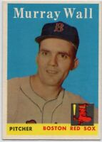 1958 Topps #410 Murray Wall EX-EXMINT Boston Red Sox FREE SHIPPING