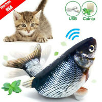 Electric Realistic Interactive Fish Cat Kicker Crazy Dancing Pet Toy Catnip Gift