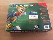 Zelda Ocarina Of Time Club Nintendo Green Pack Nintendo 64 Collectors Rare N64