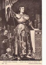Carte postale ancienne JEANNE D'ARC au sacre de charles VII INGRES 126 LL LOUVRE