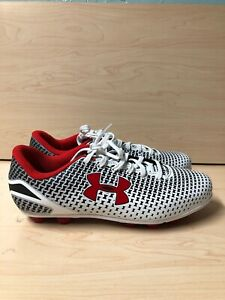 Under Armour White/Red Force Outdoor Soccer Cleat Size 5.5Y ( EU 38)