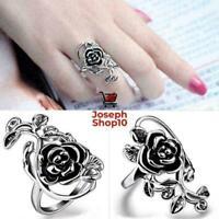 Ringe Romantisch für Frauen Rose Modeschmuck Edelstahl Hochzeit Blume H4N7 U8D4
