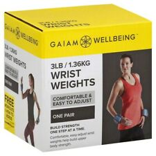 Wrist Weights 3LB / 1.36KG Gaiam Wellbeing Fitness Set Build Strength NEW in Box