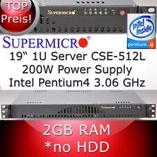 """1HE / 1U 19"""" Supermicro Rack Server P4 3,06GHz * RAM 2GB * generalüberholt"""