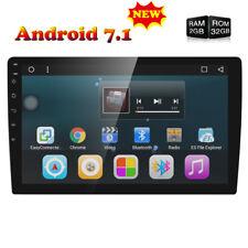 "1 Din 10.1"" Android 7.1 Quad-Core Car Stereo Radio GPS OBD2 Mirror BT Link 2GB E"