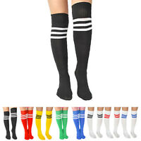 Fashion Men Women Striped Socks High Over the Knee Ankle Sports Stockings