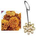 Crispy lotus blossom cookie mold block flower brass thai dessert dok jok maker