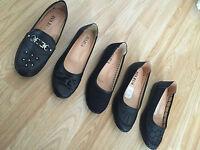 Buy1Get1Free Women Ladies Girls Black Office Casual Work School Shoes Size