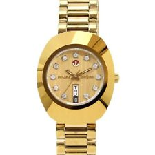 Vintage Rado Diastar Automatic Gold Plated White Stone Men's Wrist Wrist Watch