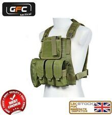 MILITARY ASSAULT TACTICAL PLATE CARRIER VEST MOLLE OLIVE AIRSOFT GFT-18-018407