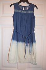 Xhilaration Girls 10 - 12 L Large Chambray Tunic Dress with belt