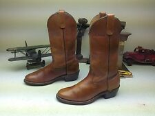 CLASSIC L.L.BEAN DISTRESSED BROWN/GOLD ENGINEER WESTERN COWBOY BOOTS SIZE 7 D