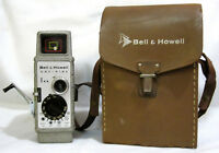 Bell & Howell One Nine 8mm Film Cine Movie Camera with Leather Case Working USA