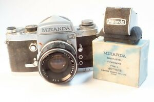 FILM TESTED Miranda-G 35mm Film Camera with 50mm lens and waist level viewfinder