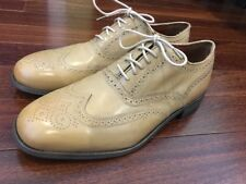Brand New Florsheim By Duckie Brown Tan Beige Wingtip Lace Laceless Slip On 9.5D