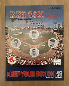 VINTAGE 1975 MINNESOTA TWINS @ BOSTON RED SOX BASEBALL PROGRAM