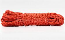 3Meter Red Twist Nylon Rope String Cord Twine Rope Bracelet Synthetic Silk 5mm