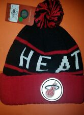 MITCHELL AND NESS BEANIE HAT OS RED BLACK MIAMI HEAT