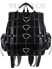 Restyle Heavy Heart Backpack Gothic Harness Handbag Witch Occult Symbols Bag