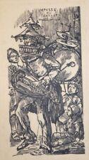 """Bois original de NAUDIN, """"L'homme orchestre"""""""