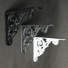 "5"" x 4"" ANTIQUE CAST IRON VICTORIAN SHELF WALL BRACKET BLACK WHITE PEWTER - BR26"