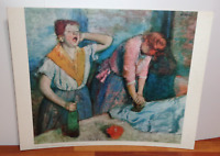 "Vintage Edgar Degas ""The Ironers"" 1960s Lithograph Shorewood Publishers Print"
