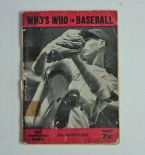 1946 Who's Who in Baseball Publication Tigers Hall Newhouser  FLASH SALE