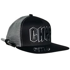 Chef/Cook Snapback Hat. Adjustable and Gray mesh Back for Great Ventilation.