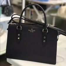NWT Kate Spade New York Lise Mulberry Street Satchel Crossbody Handbag Black