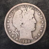 1900 Barber Half Dollar - High Quality Scans F301