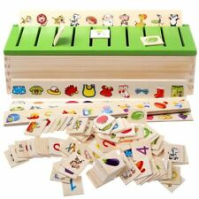 Educational Puzzles Toys Wooden Creature 3d Kids Sorting Math Learning Unisex