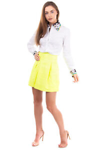 RRP €860 PHILIPP PLEIN Leather Flare Skirt Size XS Fully Lined Zip Back