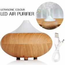 7 Color LED Ultrasonic Air Humidifier Wood Purifier Oil Diffuser Aromatherapy UK