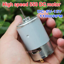 Mini 550 Motor DC12V  High Speed 11000RPM With Cooling Fan High Power Motor Tool