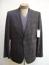 Calvin Klein Men's Wool Sport Coat Blazer Slim Fit Glen Plaid Jacket Gray L $178