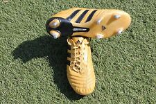 ADIDAS ADIPURE SG FOOTBALL BOOTS GOLD UK SIZE 8 Rare Must See! (A15)