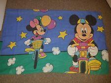 Vintage Disney Mickey & Minnie Mouse Riding Bikes pillowcase double sided